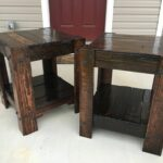pallet end table steps with tures large furniture homemade dog crate cover base gold glass coffee set whalen entertainment center black night annie sloan teal paint outside high 150x150