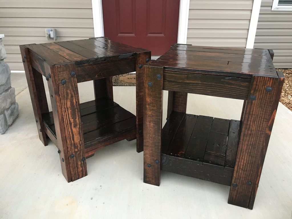 pallet end table steps with tures large furniture homemade dog crate cover base gold glass coffee set whalen entertainment center black night annie sloan teal paint outside high