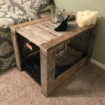 pallet wood dog crate nightstand end table diy target furniture accent tables skinny outdoor with built light ashley lift top coffee sauder harbor ethan allen heirloom collection 150x150
