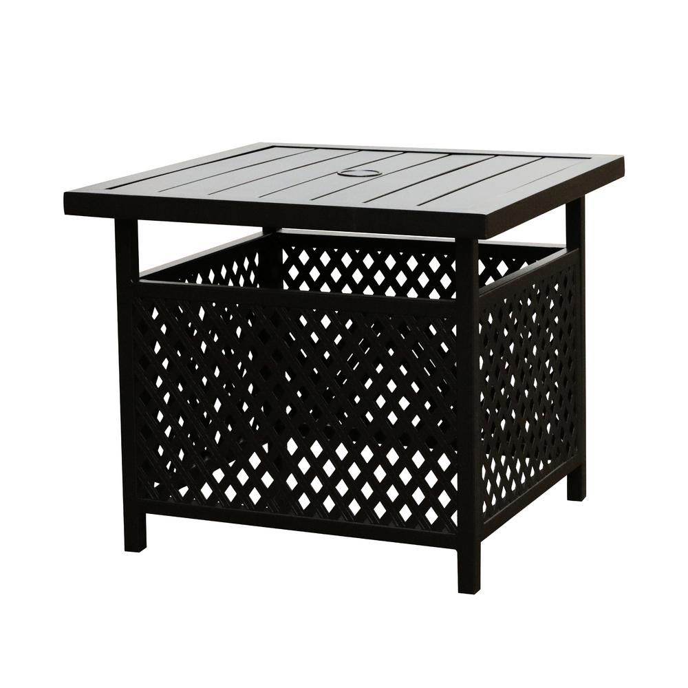 patio festival square metal outdoor coffee table the home tables black end height lamps magnussen furniture quality reviews stanley kids bedroom natural oak antique bedside