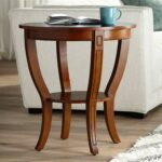 patterson americana wide cherry wood round end table kitchen dining ethan allen console white patio with umbrella hole tree root universal room furniture monarch specialties 150x150