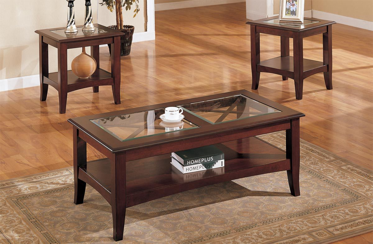 piece glass dark brown finish living room table set furniture coffee and end tables back hardwood round beige ashley north shore loveseat row catalog refrigerator bedroom toronto