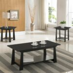 piece kings brand casual coffee table end tables set occasional black finish wood kitchen dining patio chairs ethan allen country making pallet furniture aztec calendar used 150x150