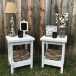 pin caitlyn vandiver future home diy bedroom decor end tables table night stand farmhouse fraleyfurnitureco etsy floor lamp set spray paint over wood stained furniture white with 150x150