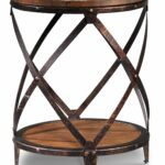 pinebrook round end table distressed natural pine leon macys furniture brands replace glass coffee with tile wood top living room tables dog crate cast iron pipe base acme marble 150x150