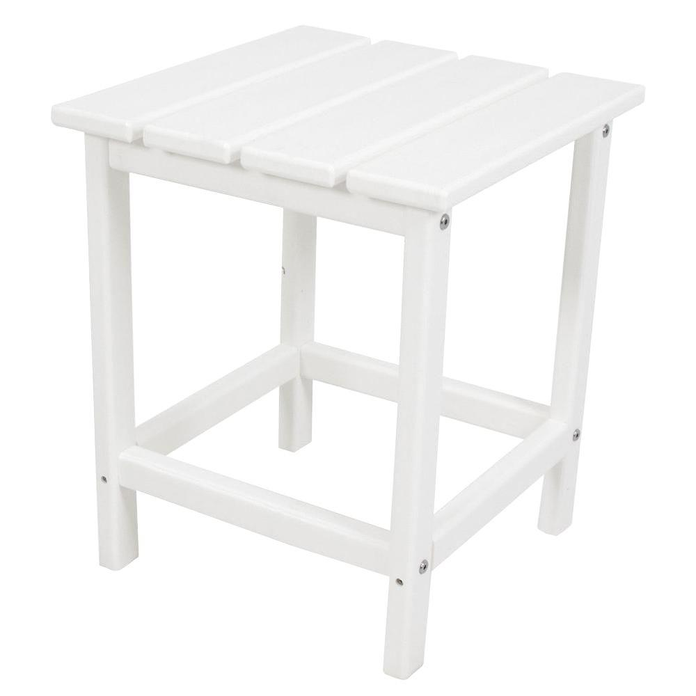 polywood long island white patio side table the outdoor tables end floor lamp built cloth covers jofran inc painting veneer furniture bedside with drawer pottery barn abbott
