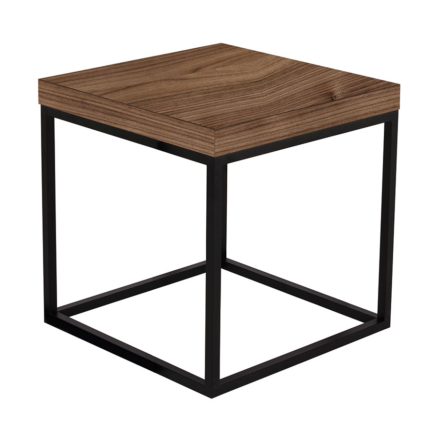 prairie walnut black modern end table temahome eurway tables and coffee solid wood dog kennel sauder carson forge side old fashioned fire pit ring made from pallet ashley center