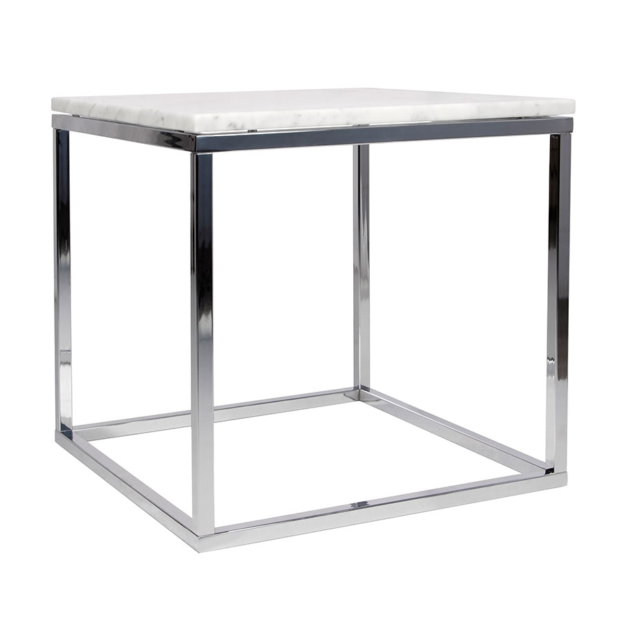 prairie white chrome marble end table temahome eurway contemporary tables square coffee and black gloss storage classic style centre designs with glass top furniture budget small