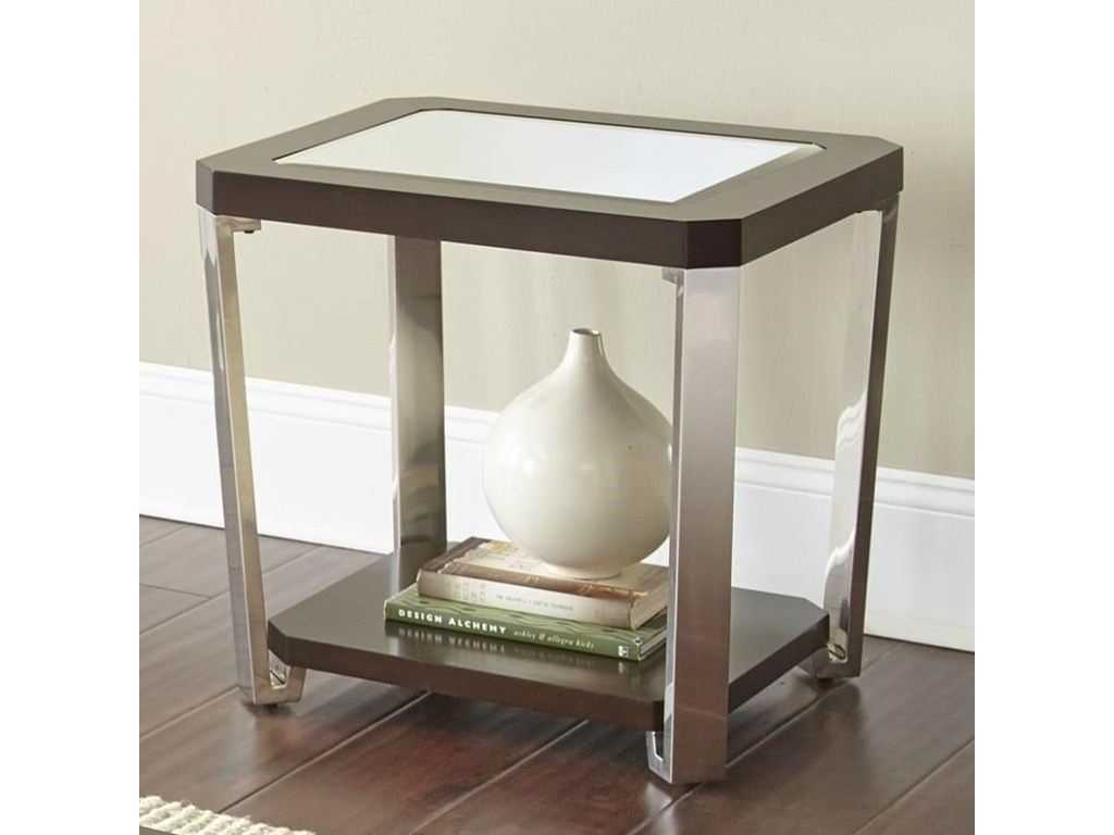 prime truman contemporary end table with bottom shelf products steve silver color tables modern homesense sofa covers furniture budget wrought iron glass antique solid oak coffee