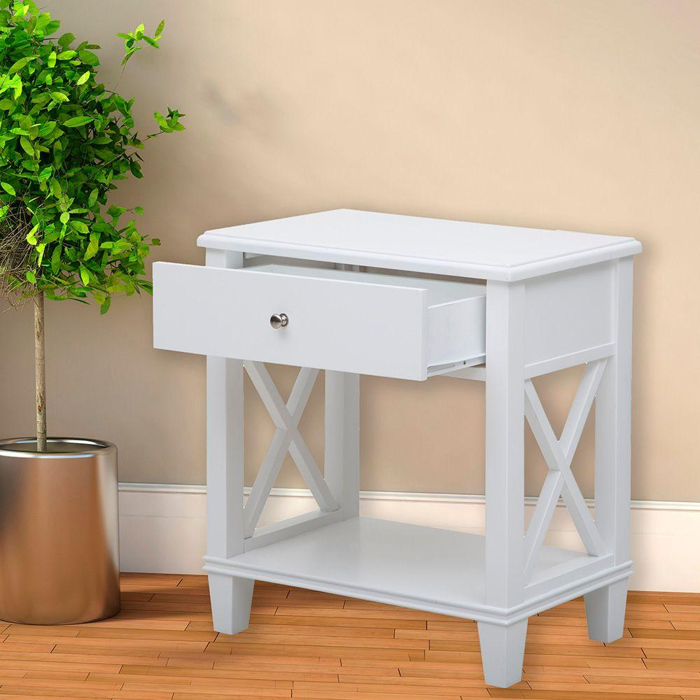 pulaski furniture white storage side table the end tables gray distressed gold coffee glass weathered diy lamp and shade works westside bathroom rack ethan allen leather ott sofa