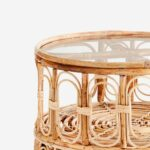 rattan bamboo round circular coffee table with glass top little deer end kitchen gas uttermost settee furniture row payment login circa ethan allen large lamps next console cream 150x150