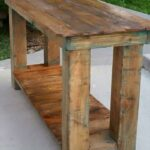 reclaimed pallet end table furniture console behind couch wood with drawers acme bar nyc ashley porter entertainment center sofa larkinhurst earth sleeper iron leon appliances 150x150