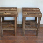 reclaimed wood end table size house design tables diy glass top patio set white coffee with gold legs dog crate liberty furniture bedroom suites ashley bunk beds saarinen side 150x150