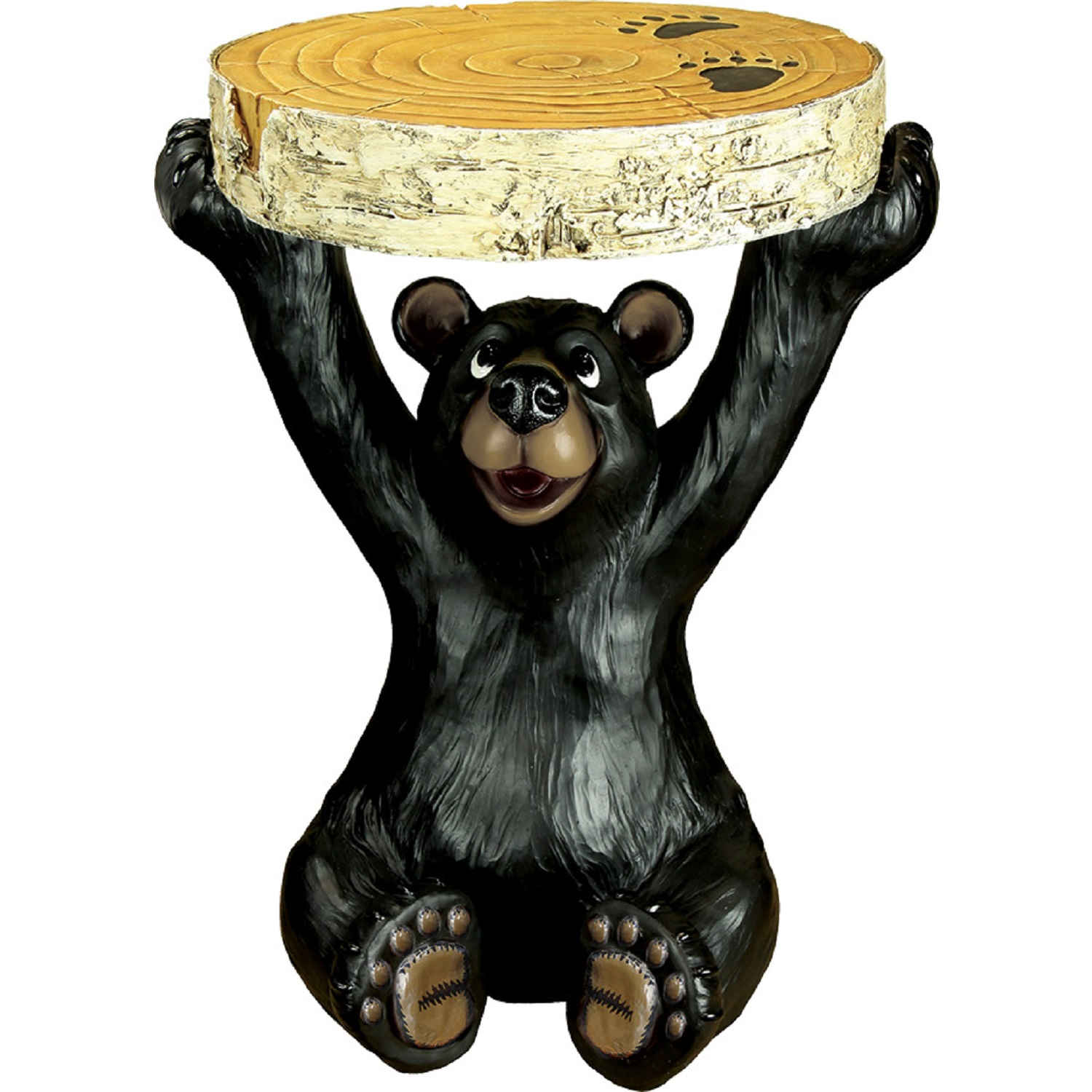 rivers edge black bear end table tables thomasville impressions bedroom furniture lazy boy chair warranty lounge cushions morcilla pittsburgh mainstays floor lamp assembly