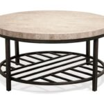 riverside furniture capri round cocktail table with travertine stone products color end tables and coffee top sofa set universal playlist dresser square black glass garden 150x150