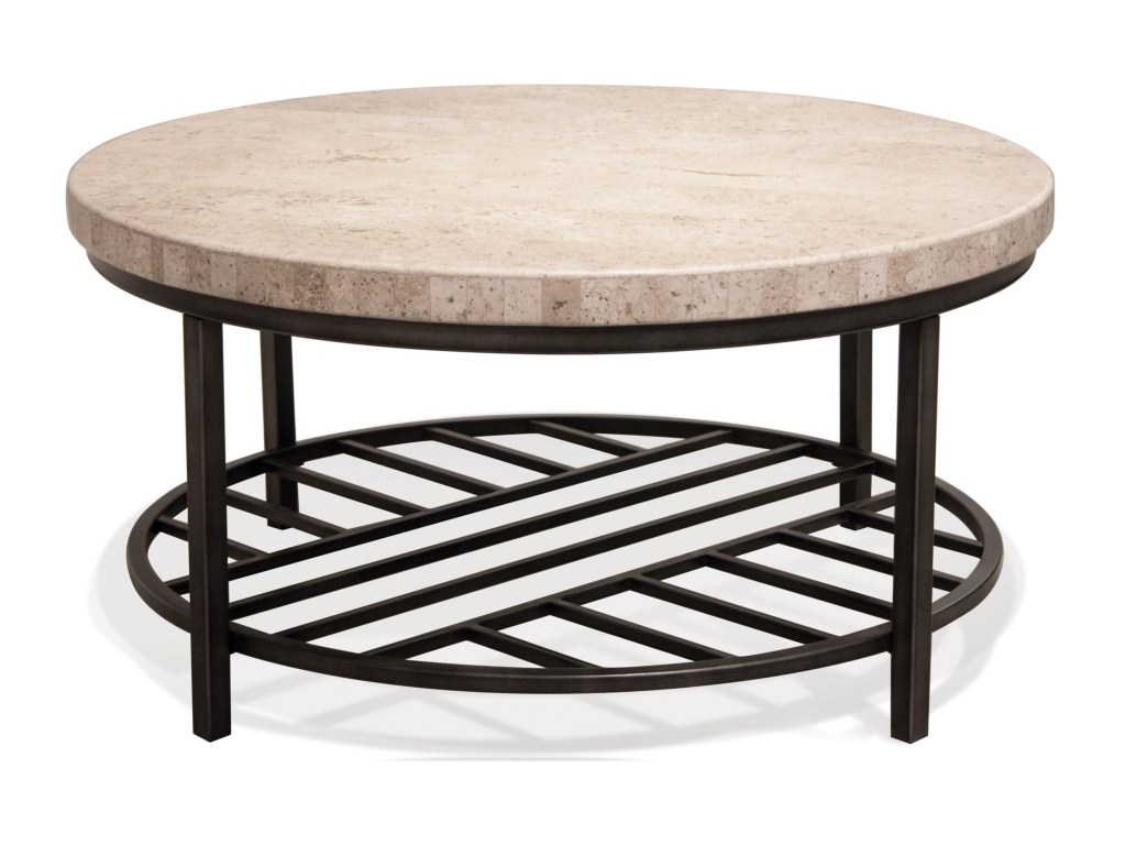 riverside furniture capri round cocktail table with travertine stone products color end tables and coffee top sofa set universal playlist dresser square black glass garden