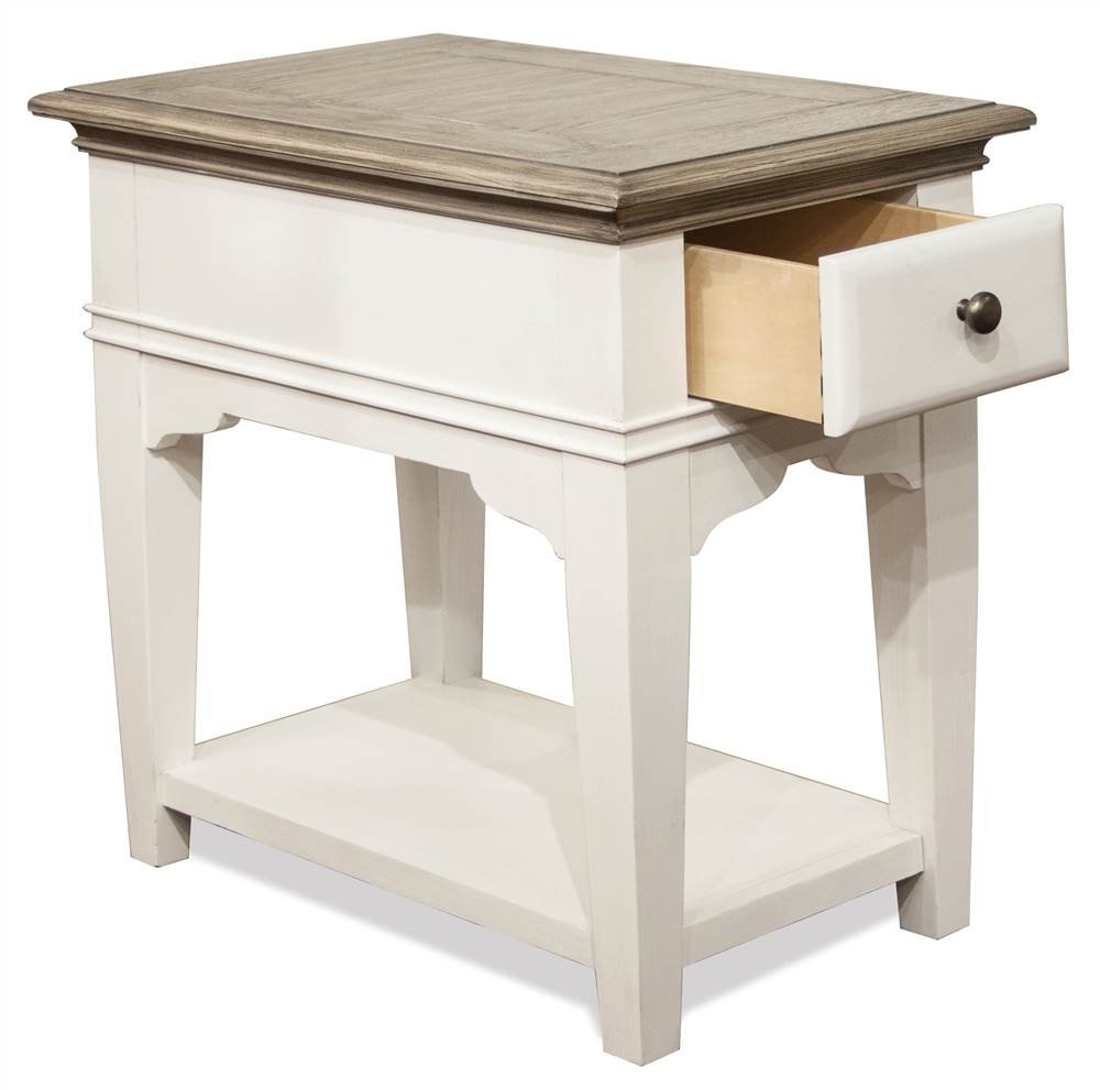 riverside furniture end table natural finish kitchen tables dining ashley side silver sofa kmart living room decor modern gold lamp powell manufacturing company universal spencer