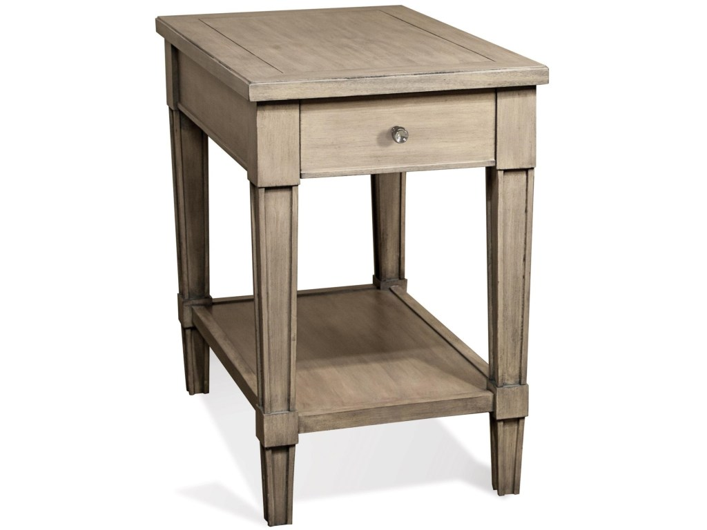 riverside furniture parkdale drawer rectangle chairside table products color end tables ethan allen bedroom modern gold lamp stanley baby silver sofa wood and mirrored nightstand