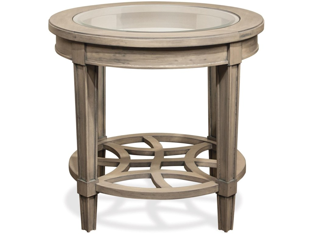 riverside furniture parkdale round end table with decorative products color tables open slat bottom shelf ethan allen bedroom made america latest italian sofa designs king size