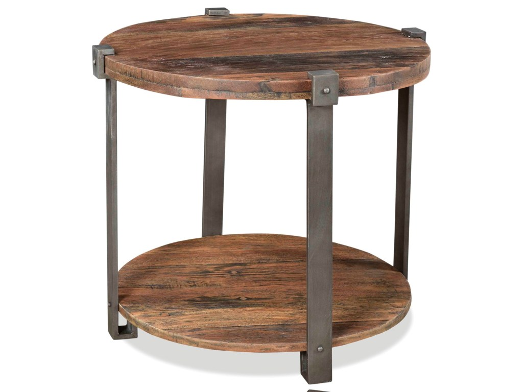 riverside furniture quinton rustic round side table with bottom products color end tables quintonround black square big lots childrens powell bar stools wrought iron patio white