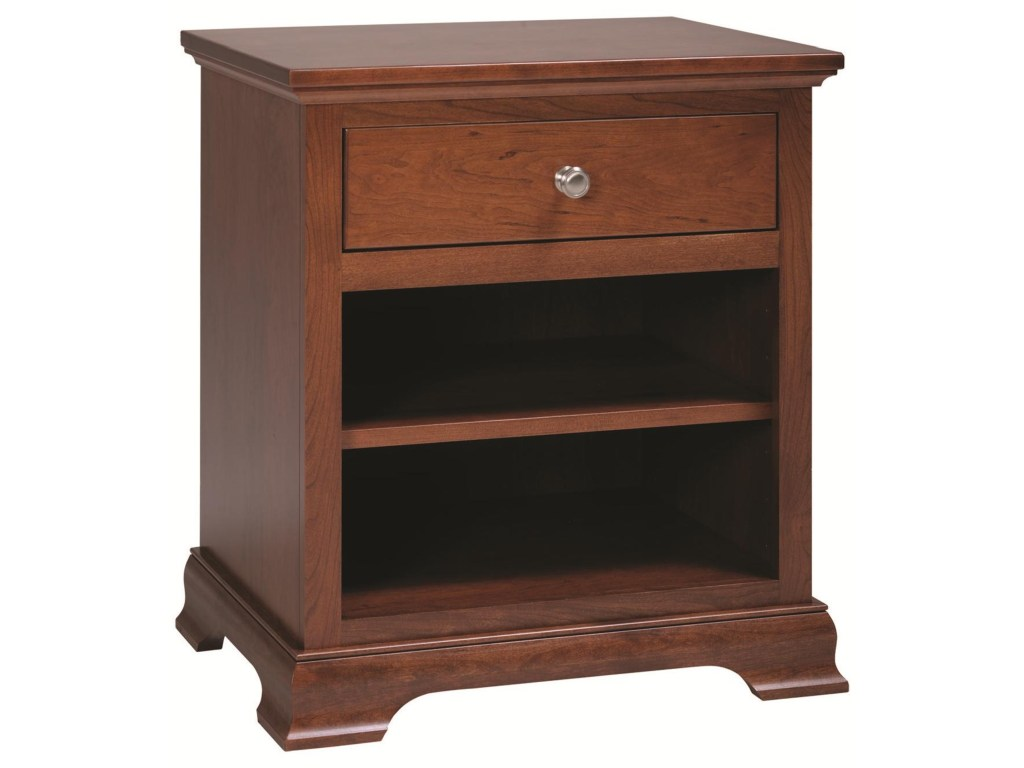 rotmans amish princeton solid wood nightstand with drawer open products premier furnishings color ppc bedroom end tables princetonnightstand dining table glass top replacement