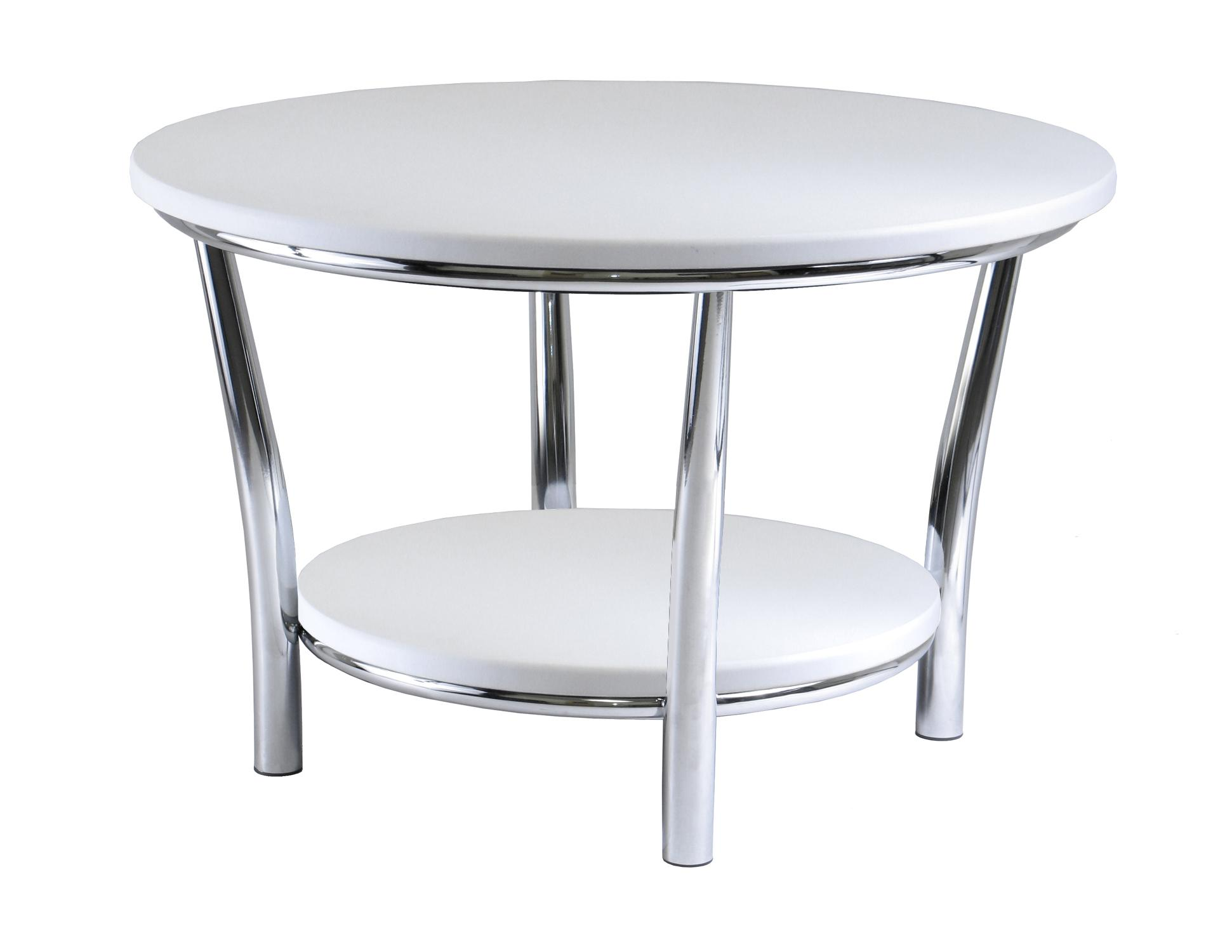 round coffee table design collection for complete furniture admirable inspiration come with contemporary style and white top plus four iron legs chrome also storage shelf end