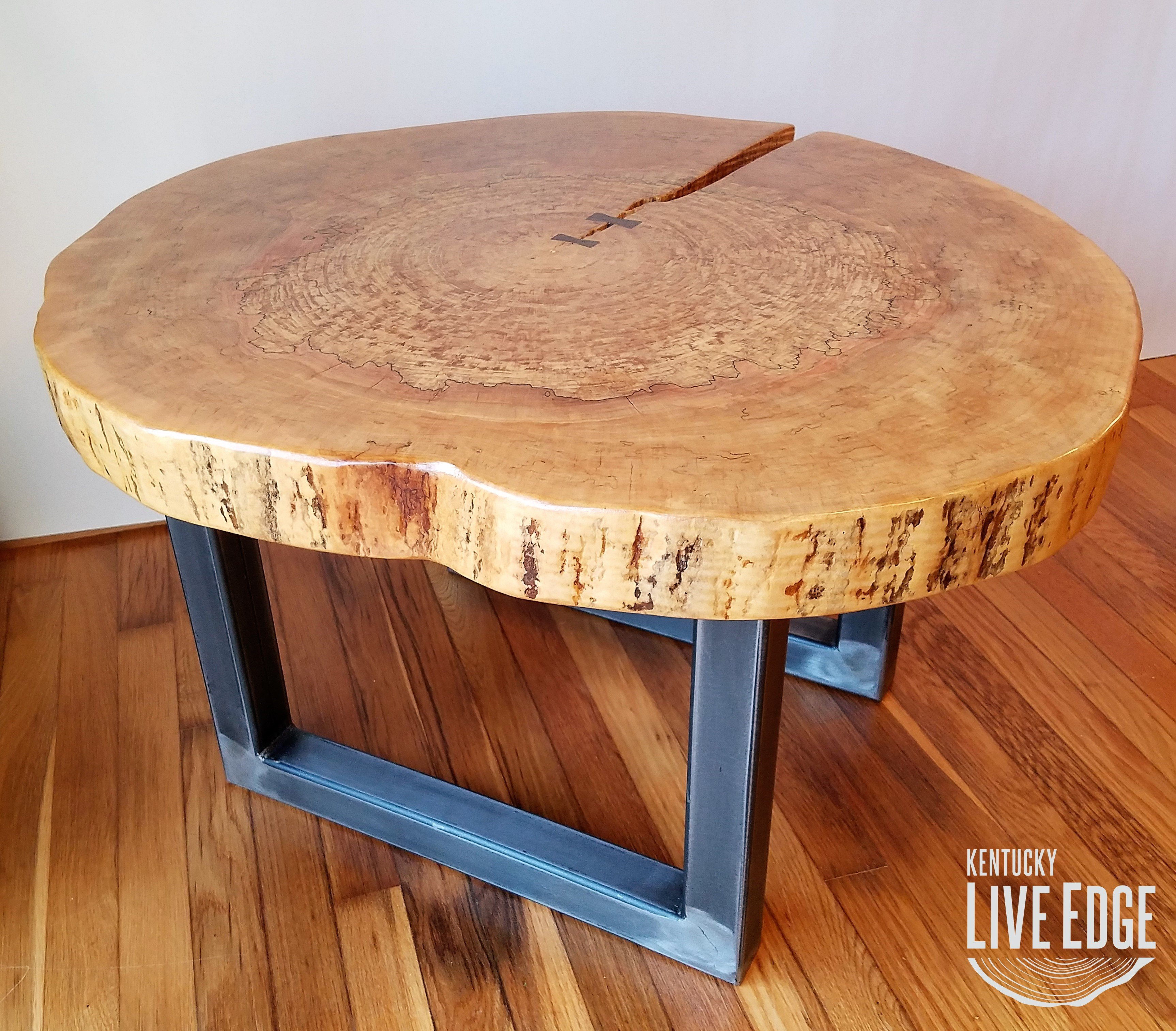 round coffee table live edge industrial tree slice log rustic and end tables furniture living room side natural wood maple slab distressed kitchen designer white circle ethan