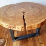 round coffee table live edge industrial tree slice log rustic furniture end tables living room side natural wood maple slab glass west elm simple frame small for patio white oak 150x150