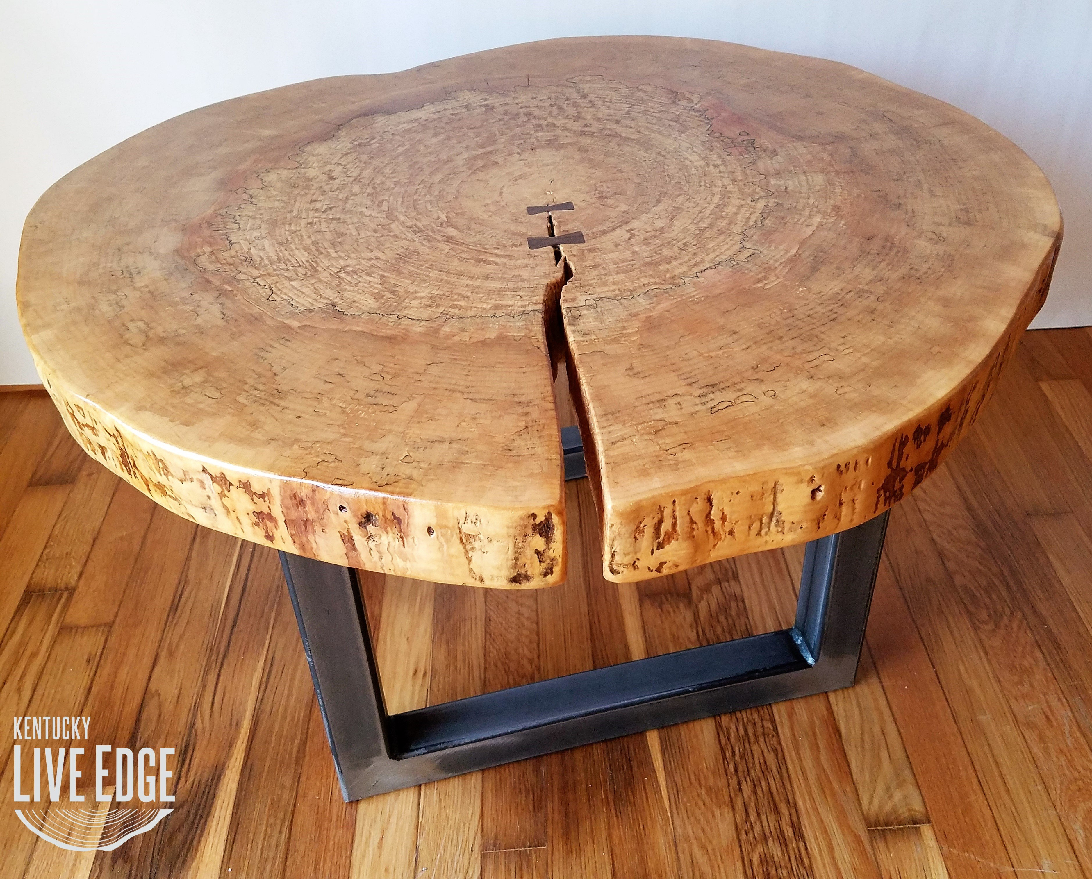 round coffee table live edge industrial tree slice log rustic furniture end tables living room side natural wood maple slab inexpensive nesting kmart outdoor patio bar ashley
