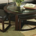 round coffee table with chairs furniture row top wood roundhill cylina solid glass stools underneath and end tables garage office dining black brown ashley living room suit ethan 150x150