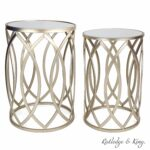 round end table set gold tables with mirrored tops glass top nesting accent and metal side rutledge king blufton used west elm furniture log slice mission style plastic nic ashley 150x150