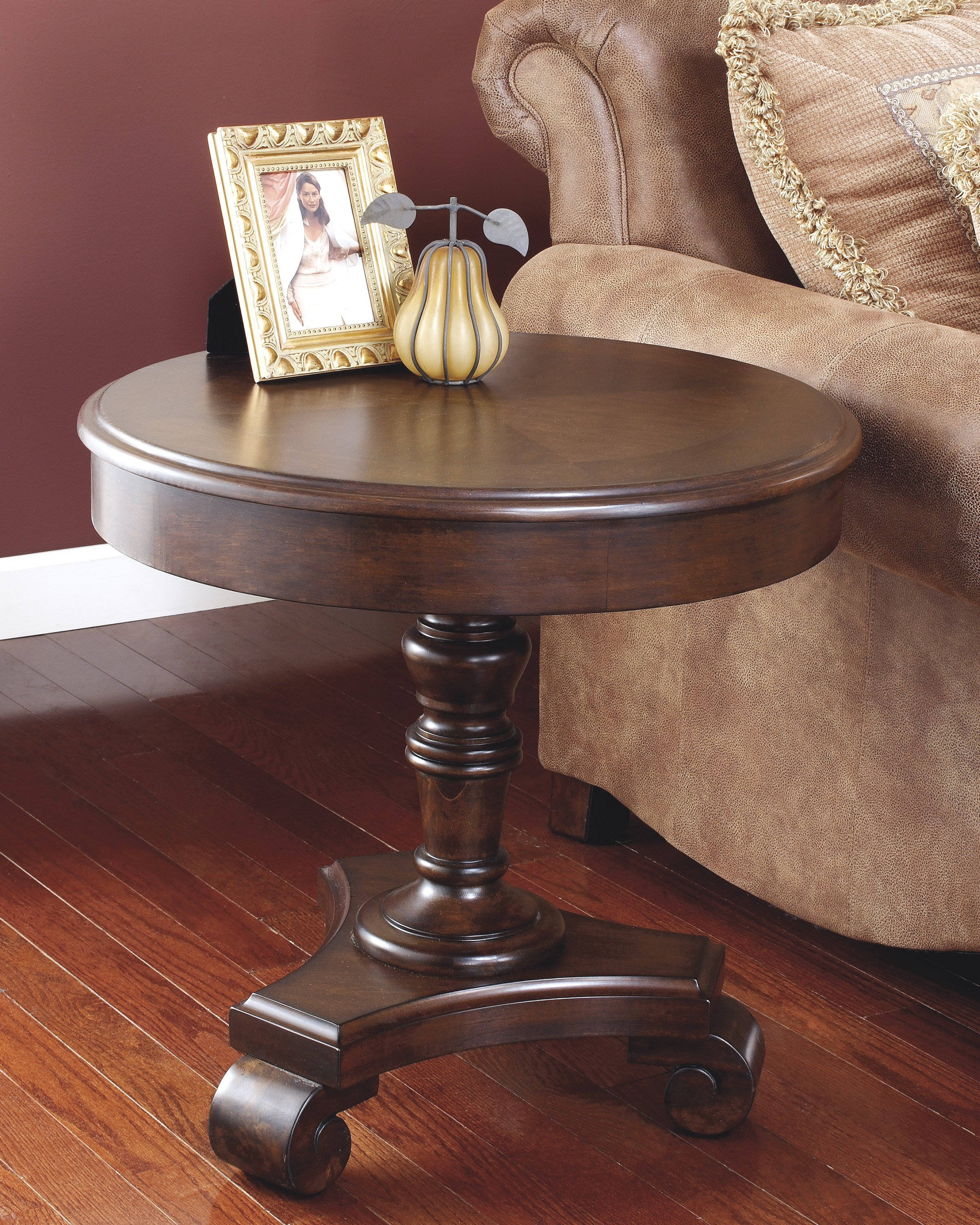 round end table the living room dark brown tables universal furniture collections pallet ideas laundry basket holder outdoor patio side timber coffee with glass top southwestern