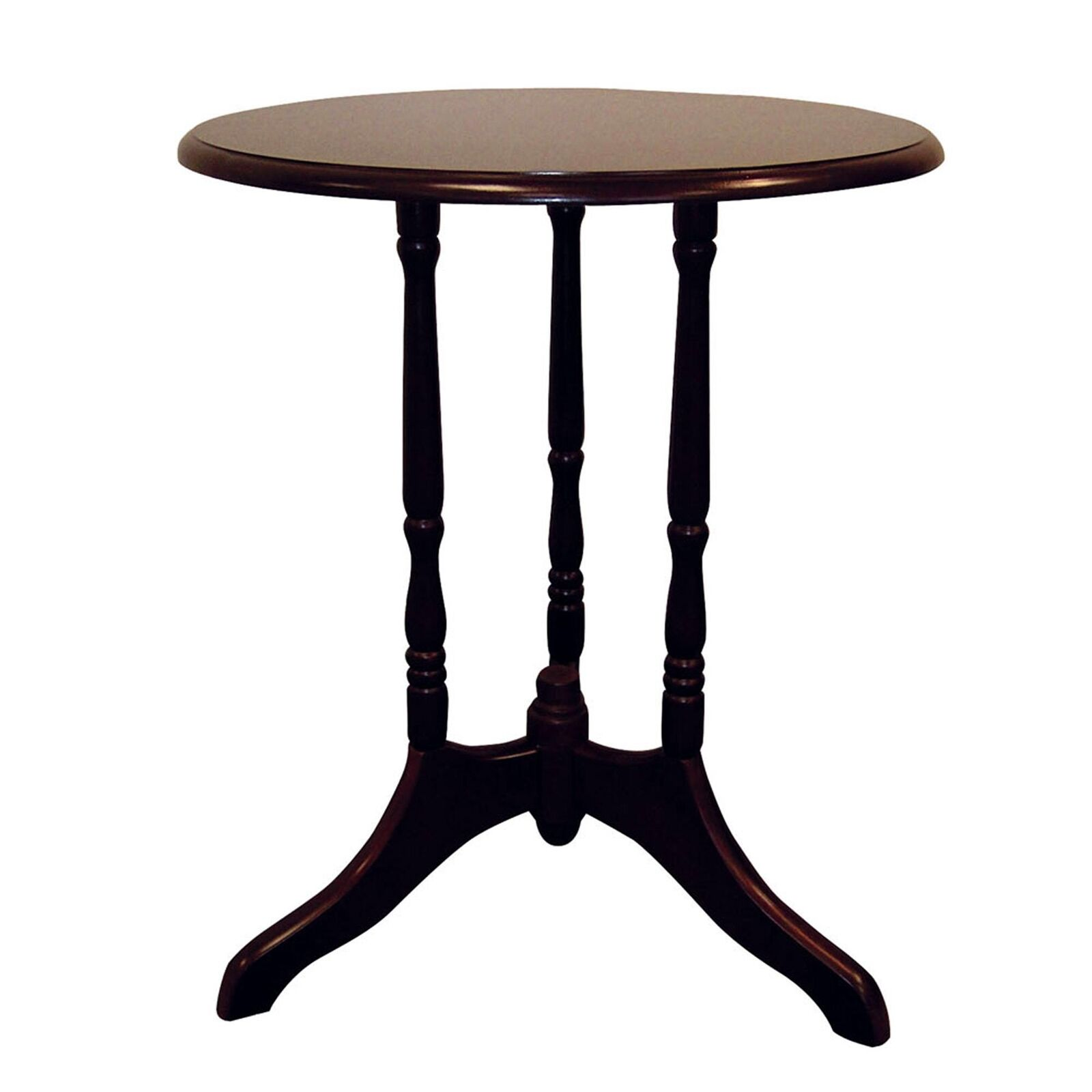 round end table tripod style base cherry finish details about mission night tables speakers magnolia home theater furniture mirrored bedroom set farm wood coffee arch glass macys