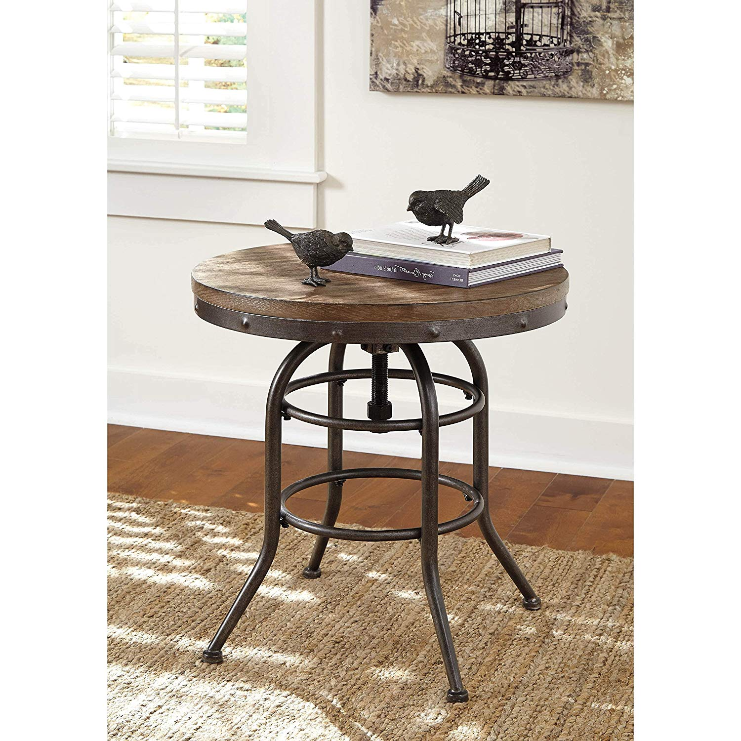 round end table with storage area side decor coffee grey cocktail furniture top kitchen dining homesense boxing day dinner sets stylish pet crates hallway thin ashley corner
