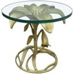 round glass top end table court lily leaf gold flower side cast aluminum for replacement chalk paint dresser ideas plank small navy contemporary sofa tables travertine coffee 150x150