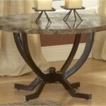 round metal end tables ashley furniture marble top glass kitchen affordable accent rugs for dark brown laura chesterfield sofa square brass coffee table vintage side kled bedroom 150x150