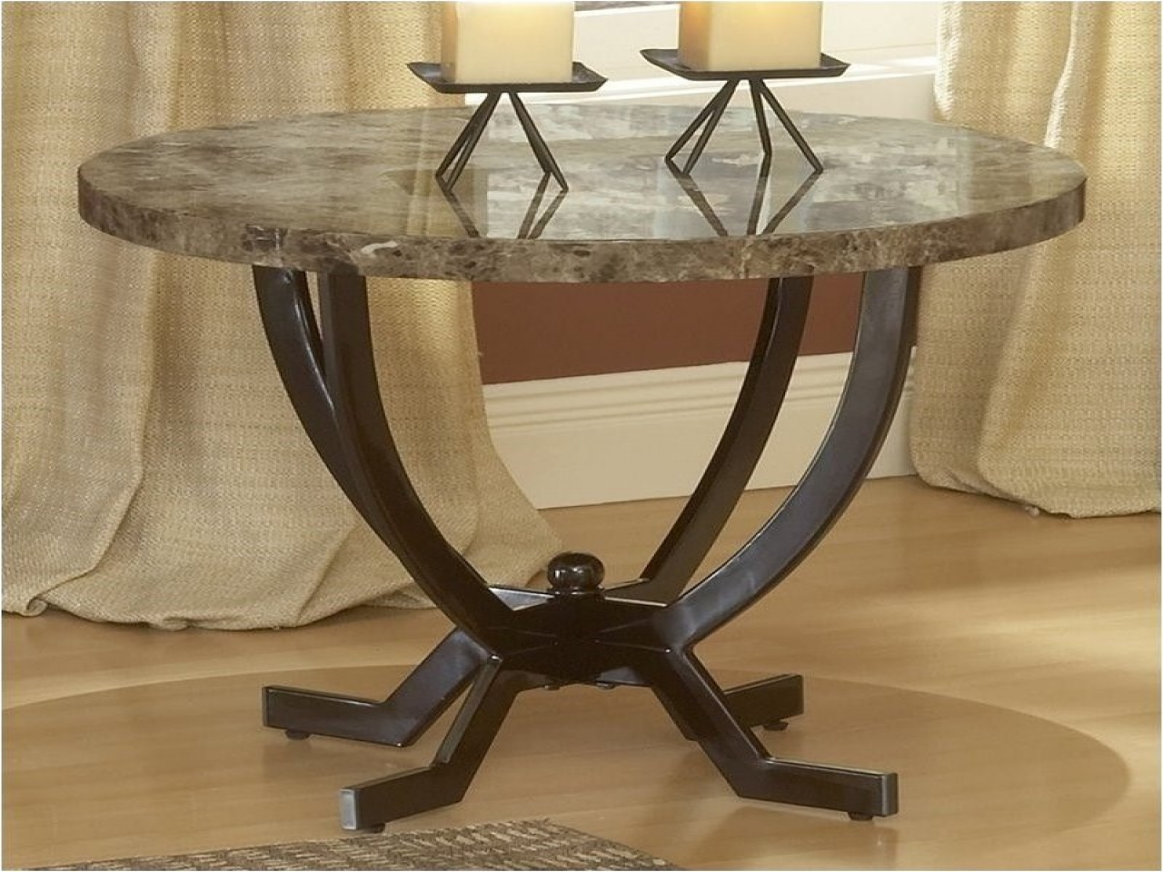 round metal end tables ashley furniture marble top glass kitchen affordable accent rugs for dark brown laura chesterfield sofa square brass coffee table vintage side kled bedroom