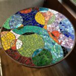 round mosaic end table mosaicendtable black and glass stained tables trunk folding garden chairs lazy boy website reclaimed wood kitchen value city furniture magnolia house rustic 150x150