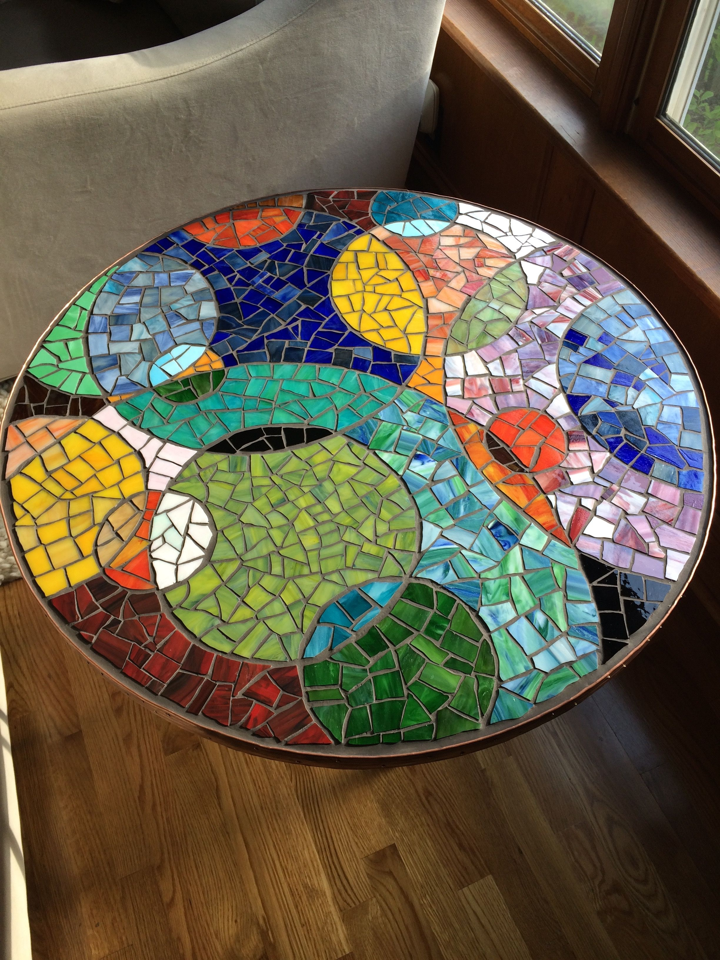 round mosaic end table mosaicendtable black and glass stained tables trunk folding garden chairs lazy boy website reclaimed wood kitchen value city furniture magnolia house rustic