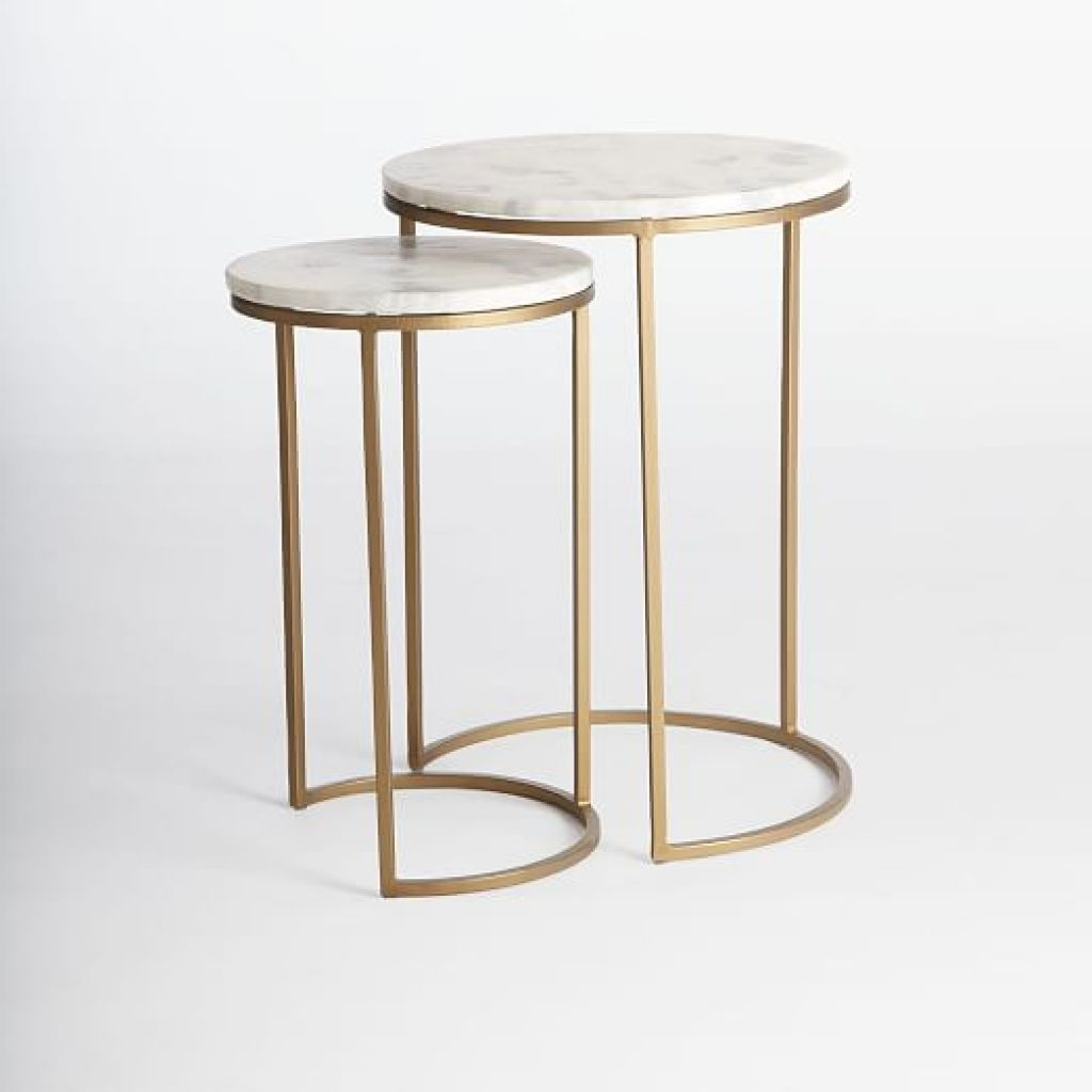 round nesting side tables set marbleantique brass west elm western coffee and end table kmart furniture patio out wood pallets gold leaf rectangle glass top replacement office