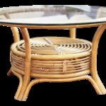 round rattan bamboo pencil reed glass top coffee table chairish and end off white black dog crate furniture toscana nest tables diy with drawer patio cleaner lexington 150x150