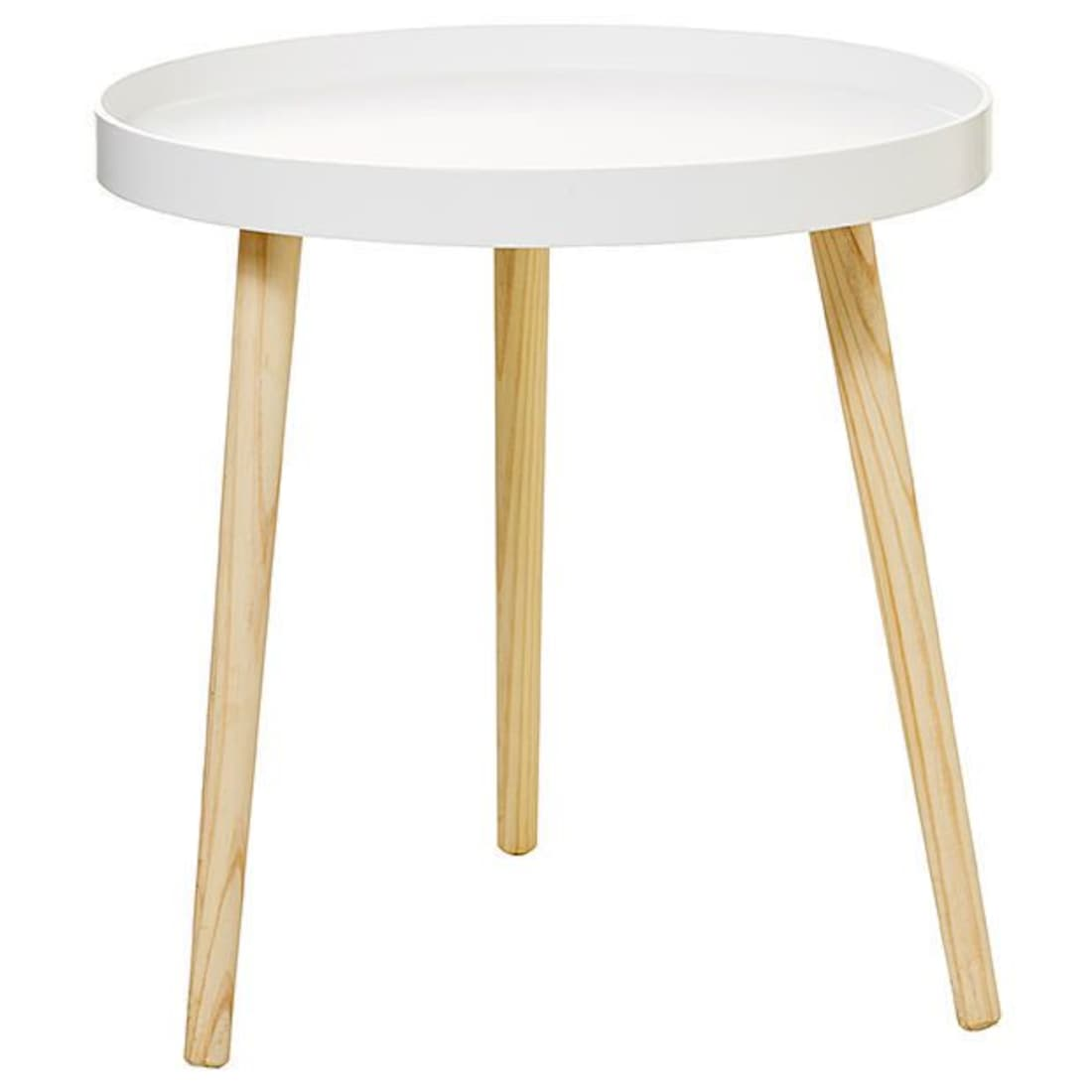 round side tray table white target end tables coffee stanley sophia collection big kmart coupons unfinished furniture canton copper storage cabinets oak lift runner for lawn made