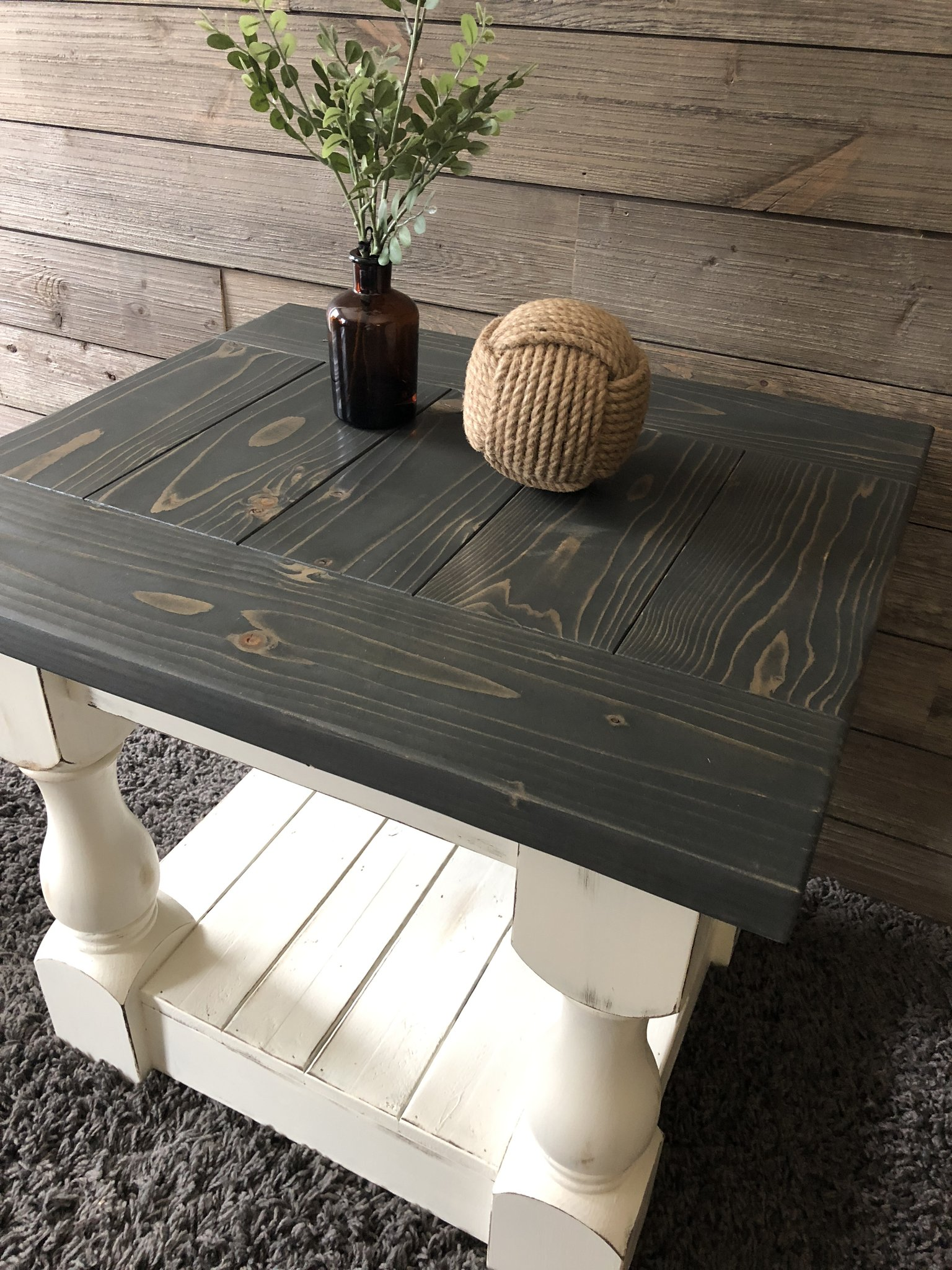 rustic baluster farmhouse coffee table end img tables threshold drawer accent big lots living room rugs cherry magazine plain wood black iron sofa stickley chair liberty furniture