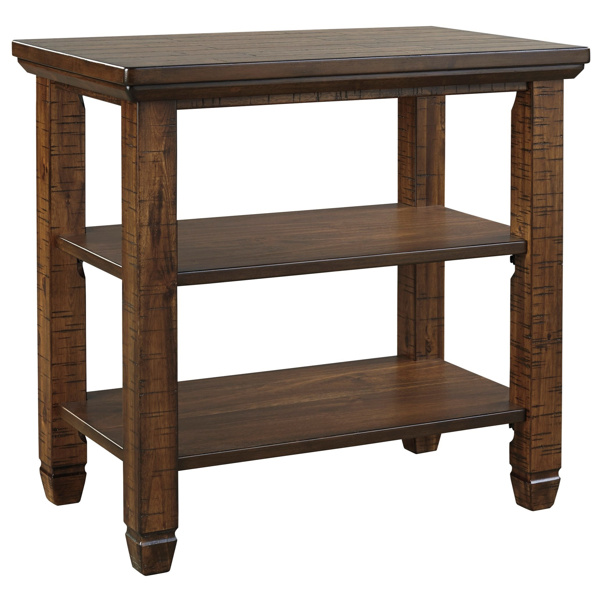 rustic chairside end table signature design ashley wolf products color royard furniture tables glass toronto wayside medina what acme medium oak ideas for brown leather carved
