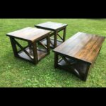 rustic coffee table with matching end tables backyard diy pallet garden furniture chairside accent glass top outdoor modern lamp sango dishes high console leg kit metal bench legs 150x150
