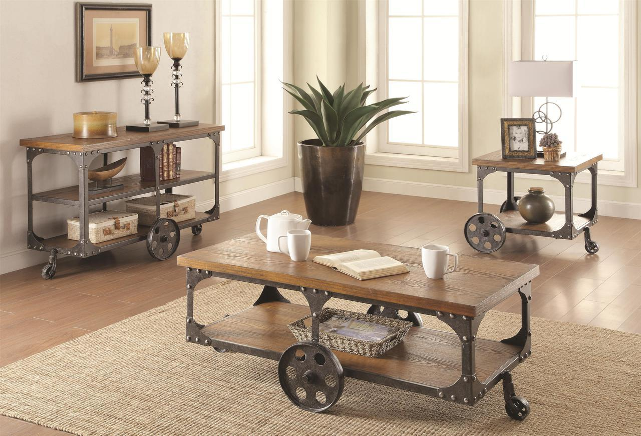 rustic country style coffee table set miami direct furniture products coaster color collection and end tables laura ashley hamper person glass dining slate top chairs vintage lane