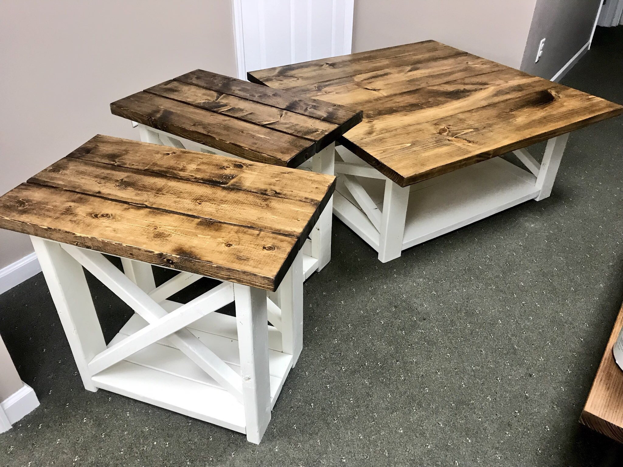 rustic living room set large farmhouse coffee table with fullxfull white end long tables provincial brown top creamy distressed ethan allen court secretary desk patio low profile