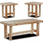 rustic log coffee and end table set pine cedar tables unfinished kitchen dining homesense couches room furniture dubai espresso target mission style entertainment center 150x150