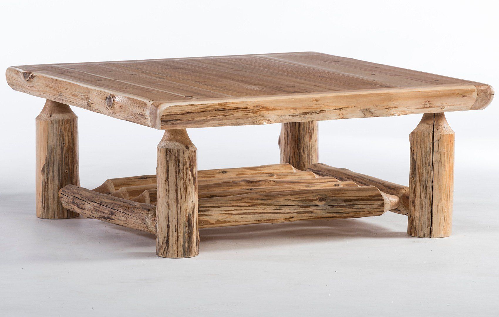 rustic log coffee tables whole end made from logs cedar lake solid wood square table lexington furniture wrought iron set small corner side slim grey bedside muebleria ashley