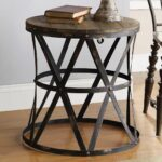 rustic modern side table dream home whatnots industrial black round end coffee tables and forest decor white bedside with one drawer pallet patio furniture instructions pair lamp 150x150
